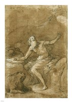 Saint Jerome Hearing the Trumpet of the Last Judgement - posed Fine-Art Print