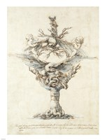Design for a Ewer with Eagles and PuttI Fine-Art Print
