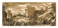 An Army Leaving a Castle Fine-Art Print