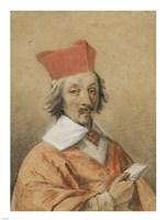 Portrait of Armand-Jean du Plessis, Cardinal de Richelieu Fine-Art Print