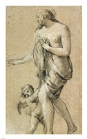 Study of a Female Figure with a Putto Fine-Art Print