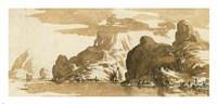 A View of Mountains across a Lake Fine-Art Print