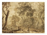 Woodland Landscape with Nymphs and Satyrs Fine-Art Print