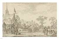 A Village Festival with Musicians Playing Outside a Tent Fine-Art Print