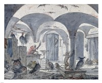 An Enchanted Cellar with Animals Fine-Art Print