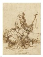Young John the Baptist History Scene Fine-Art Print