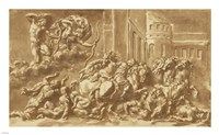 The Sons of Niobe Being Slain by Apollo and Diana Fine-Art Print
