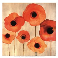 Orange Poppies II -Mini Fine-Art Print