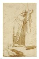 A Monk Carrying a Cross Fine-Art Print