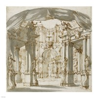 The Courtyard of a Palace: Project for a Stage Fine-Art Print