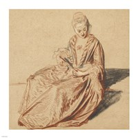 Seated Woman with a Fan Fine-Art Print