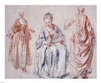 Studies of Three Women Fine-Art Print
