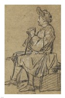 Study of a Seated Man Fine-Art Print
