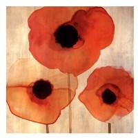 Orange Poppies I -Mini Fine-Art Print