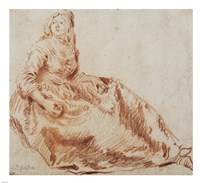 Study of a Seated Woman Fine-Art Print