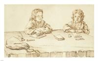 Portraits of Serafino and Francesco Falzacappa Fine-Art Print