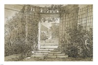 Landscape with a Stairway and Balustrade Fine-Art Print