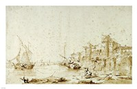 An Imaginary View of a Venetian Lagoon Fine-Art Print