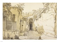 The Entrance to the Grotto at Posilipo Fine-Art Print