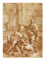 Joseph Interpreting the Dreams of His Fellow Prisoners Fine-Art Print