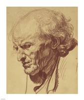 Study of the Head of an Old Man Fine-Art Print