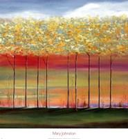 Sun Setting Through Trees Fine-Art Print