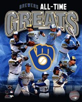 Milwaukee Brewers All Time Greats Fine-Art Print