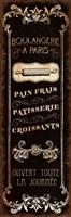 Parisian Signs Panel - I Fine-Art Print