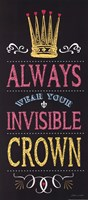 Invisible Crown - Black Fine-Art Print