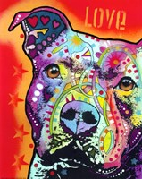 Thoughtful Pit Bull 2 Fine-Art Print