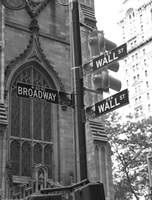 Wall Street Signs Fine-Art Print