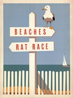 Beaches vs. Rat Race Fine-Art Print