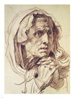 Study of the Head of an Old Woman Fine-Art Print