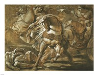 Tullia about to Ride over the Body of Her Father in Her Chariot Fine-Art Print