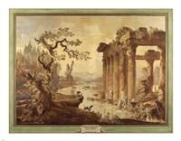 Landscape with Ruins Fine-Art Print