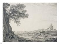 An Extensive View of Rome from the Orti della Pineta Sacchetti Fine-Art Print