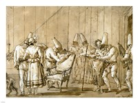 Punchinello Is Helped to a Chair Fine-Art Print