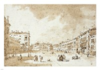View of Campo San Polo Fine-Art Print