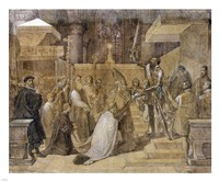 The Duke of Alba Receiving the Pope's Blessing in the Cathedral of St.Gudule Fine-Art Print