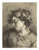 Head of a Sleeping Bacchante Fine-Art Print