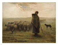 Shepherdess and Her Flock Fine-Art Print