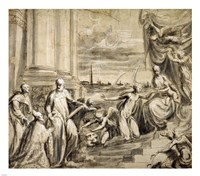 The Mystic Marriage of Saint Catherine with Saints and a Doge Fine-Art Print