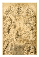 Madonna and Child with Angels Bearing Symbols of the Passion Fine-Art Print