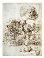 A Group of Shepherds, and Other Studies Fine-Art Print