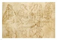 Studies of the Virgin and Child Fine-Art Print
