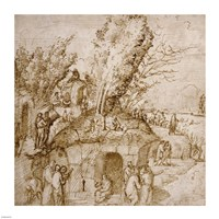 A Thebaid: Monks and Hermits in a Landscape Fine-Art Print