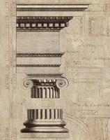Architectural Rendering II Burlap Sepia Crop Fine-Art Print