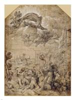 Saint Catherine of Alexandria at the Wheel Fine-Art Print
