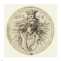 Design for a Bookplate or a Glass Etching Fine-Art Print
