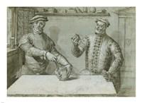 A Double Portrait of Hans Furraht and Jacob von der Burch Fine-Art Print